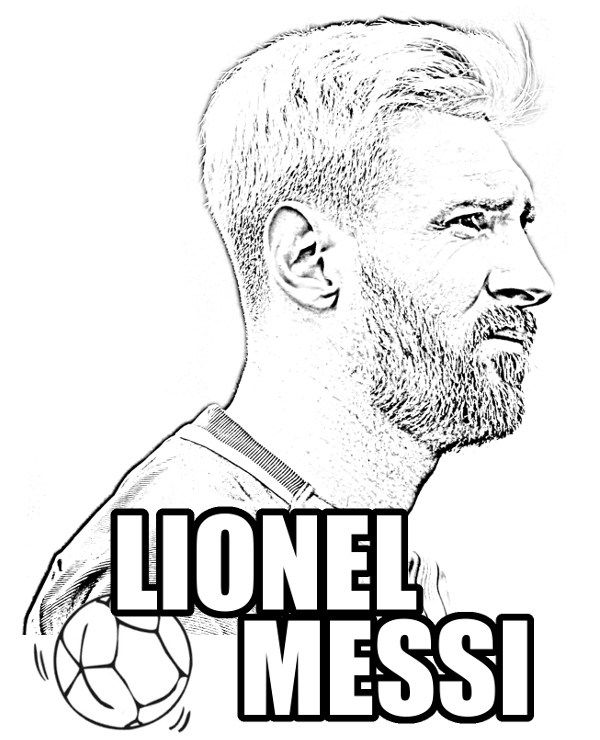 Lionel Messi coloring picture