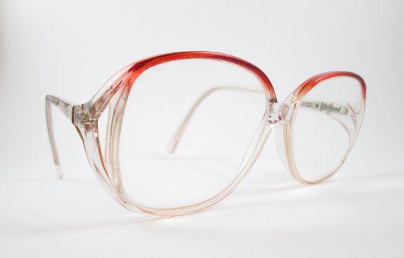 0e5bc70be72 Modern Kitty Amethyst Vintage 1980s Oversized Frames Glasses 53 14 130  VintageHag.com