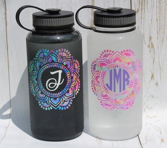 34oz wide mouth monogram