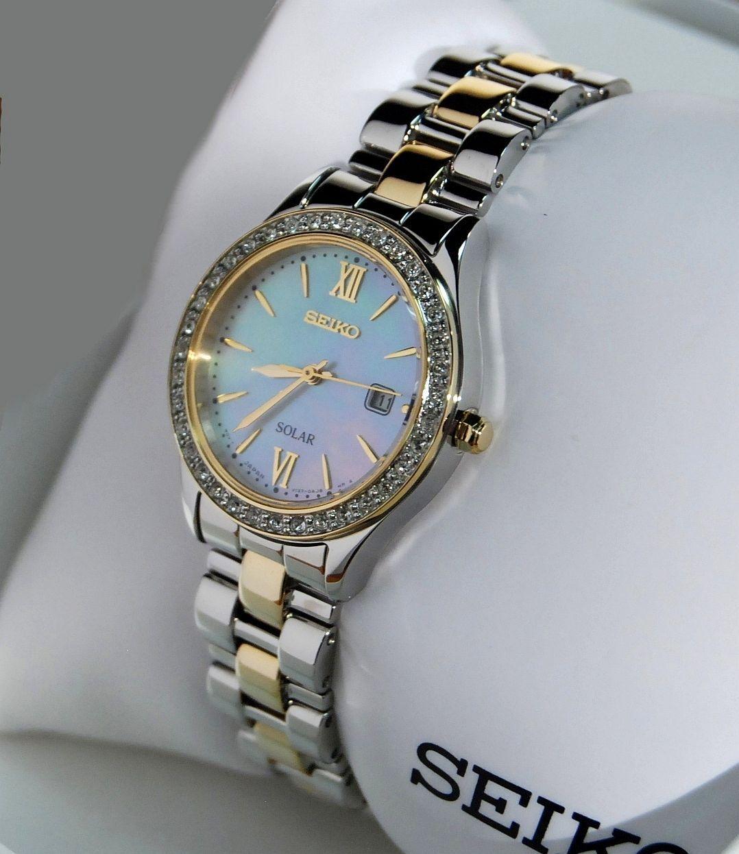 Seiko Watch (Women's Preowned Solar Wristwatch, Stainless