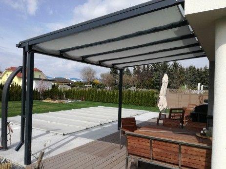 seilzugmarkise als sonnenschutz terrassendach garten pinterest terrassendach sonnenschutz. Black Bedroom Furniture Sets. Home Design Ideas