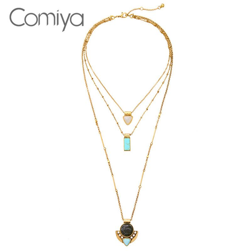 Comiya online shopping india jewelry collier fashion multilayers comiya online shopping india jewelry collier fashion multilayers geometric pendants women necklaces sailor moon lady necklace aloadofball Images