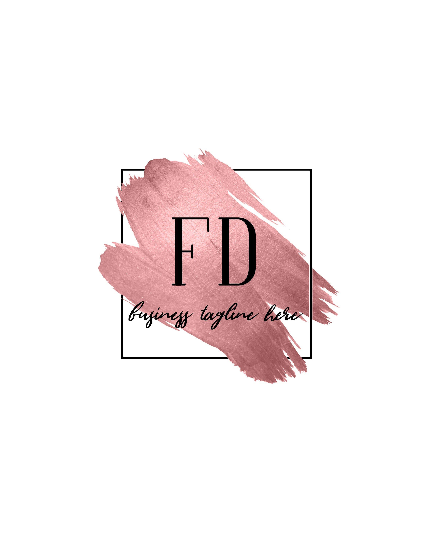 Rose Gold Logo Design, Beauty Salon Logo, Makeup Artist