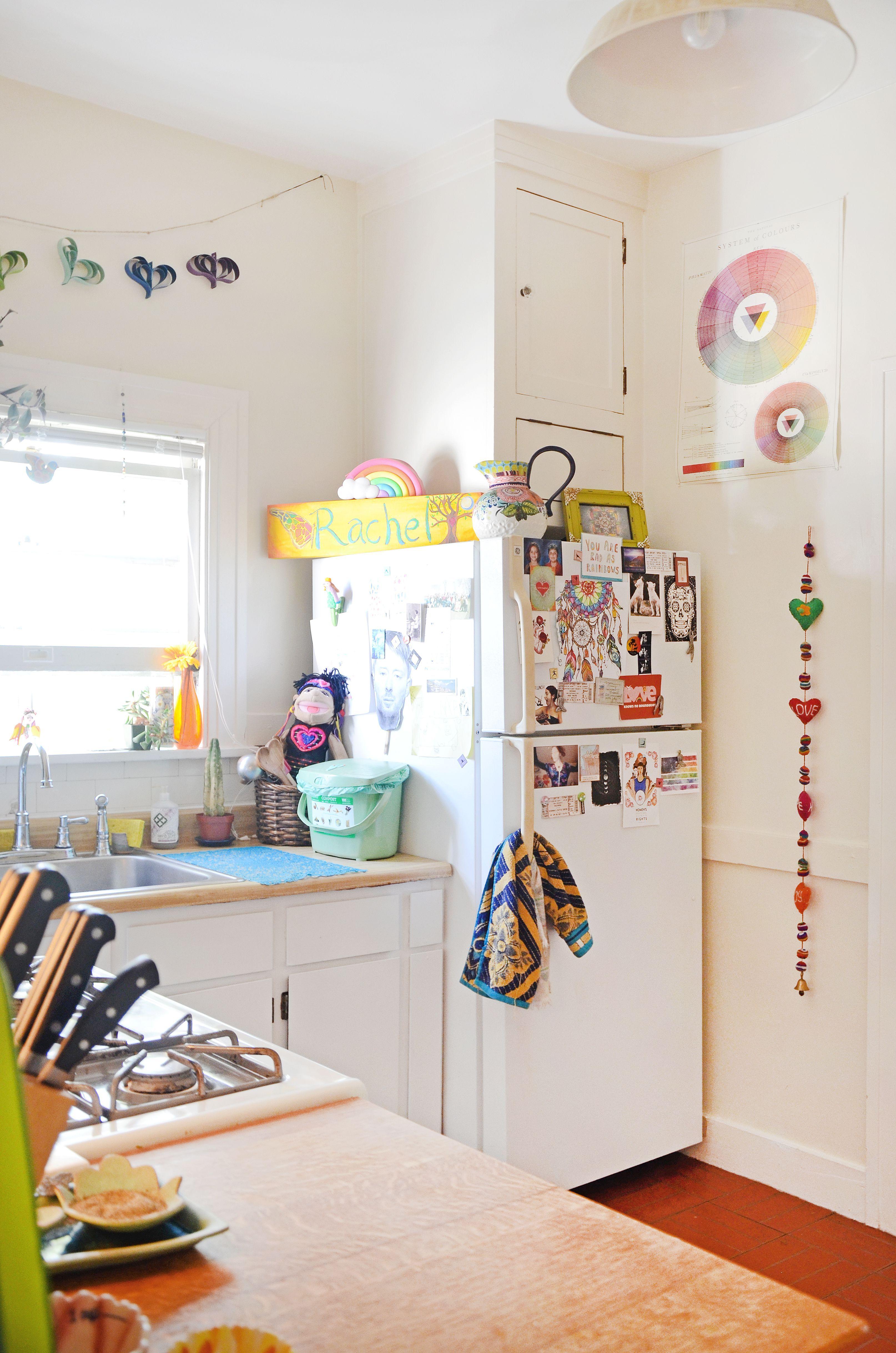 A Hippie Rainbow Boho Apartment In Oakland Boho Dining Room Boho Apartments Dining Room Small