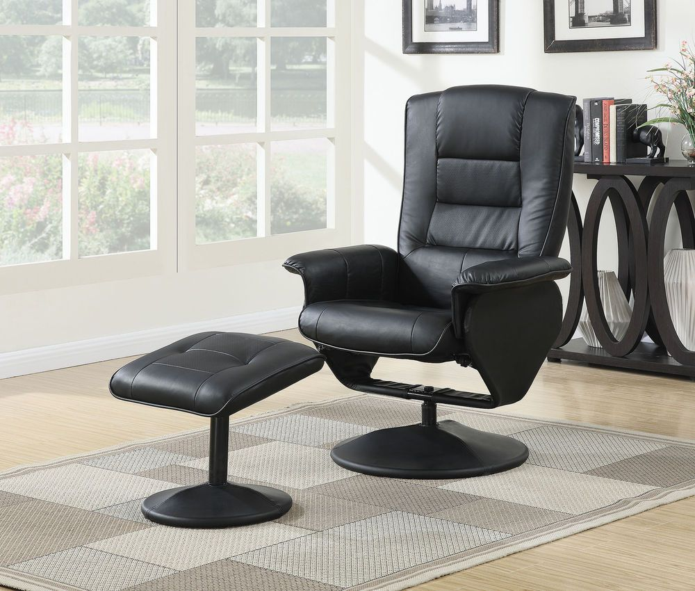 Living Room Recliner Chair w/ Ottoman Footrest Comfortable Sofa ...