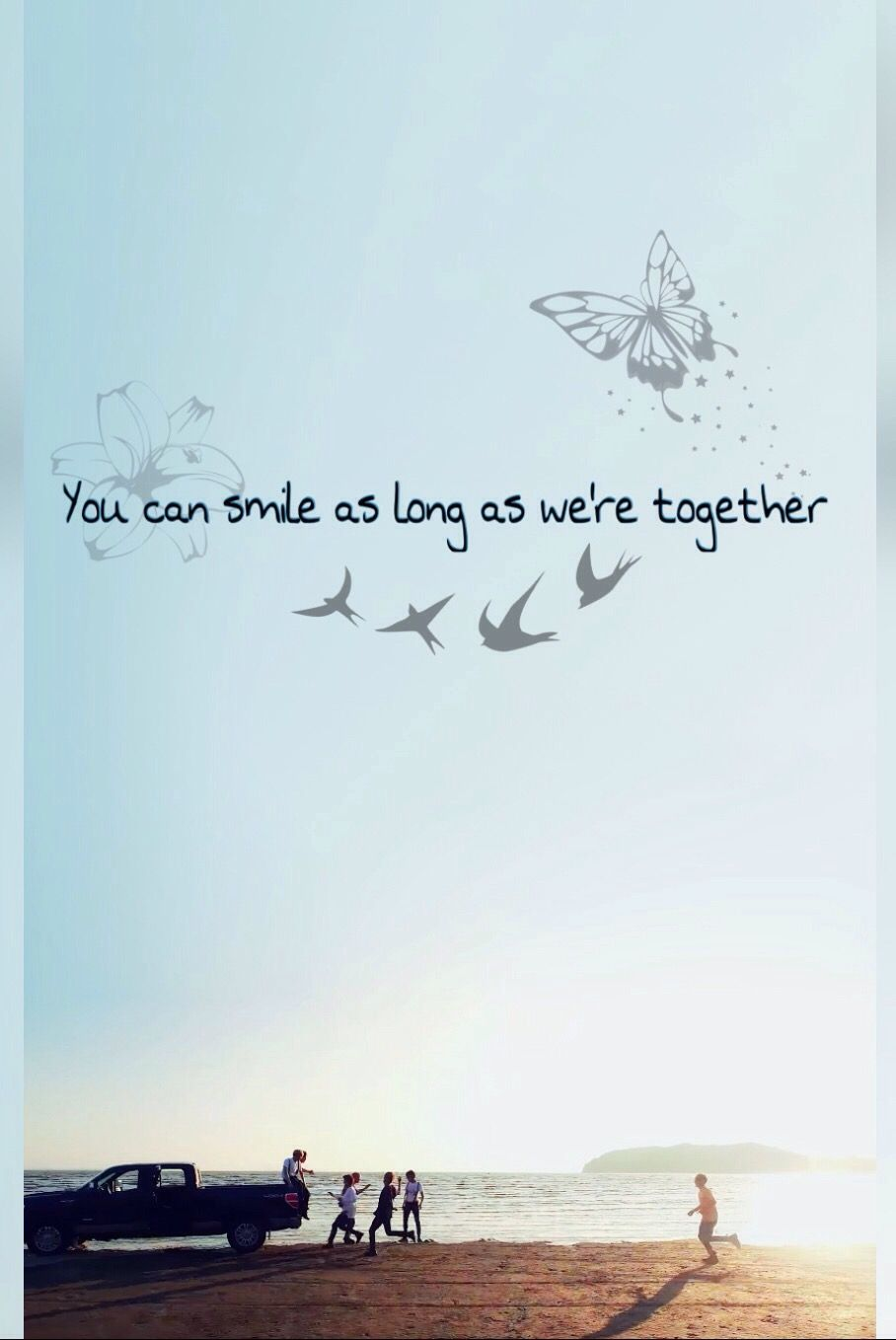 Kpop Quotes Wallpaper Bts Edit Quot You Can Smile As Long As We Re Together Quot Bts