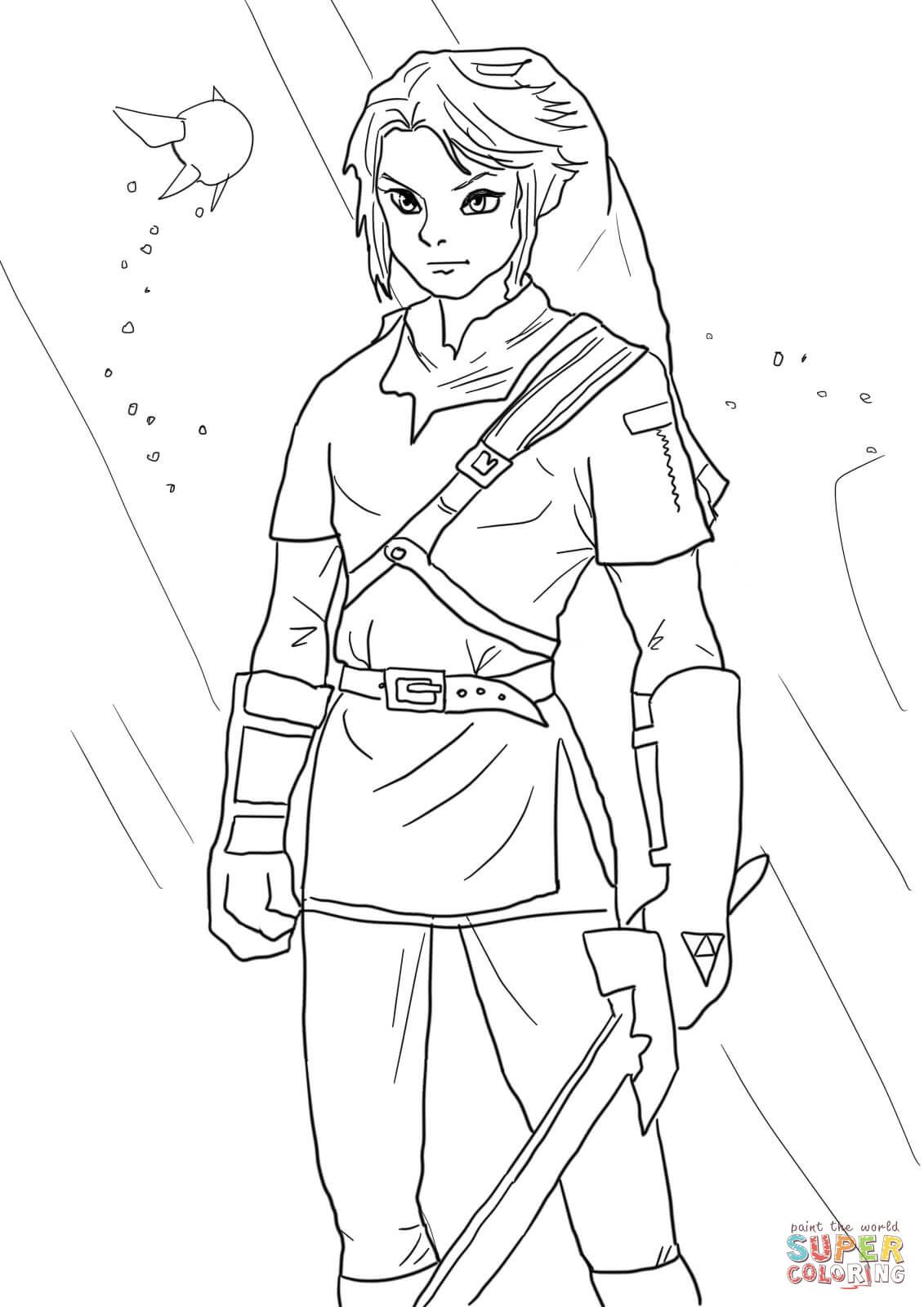 dibujos de zelda link from legend of zelda coloring page free printable coloring