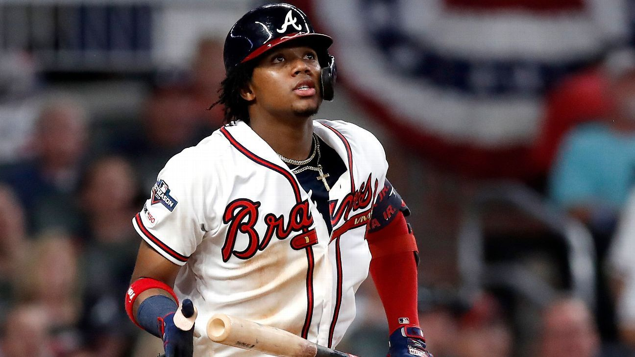 Braves Outfielder Ronald Acuna Jr Failed To Run Out A Ball He Hit Off The Wall In The Seventh Inning And Had To Settle For A Single Braves Atlanta Braves Espn