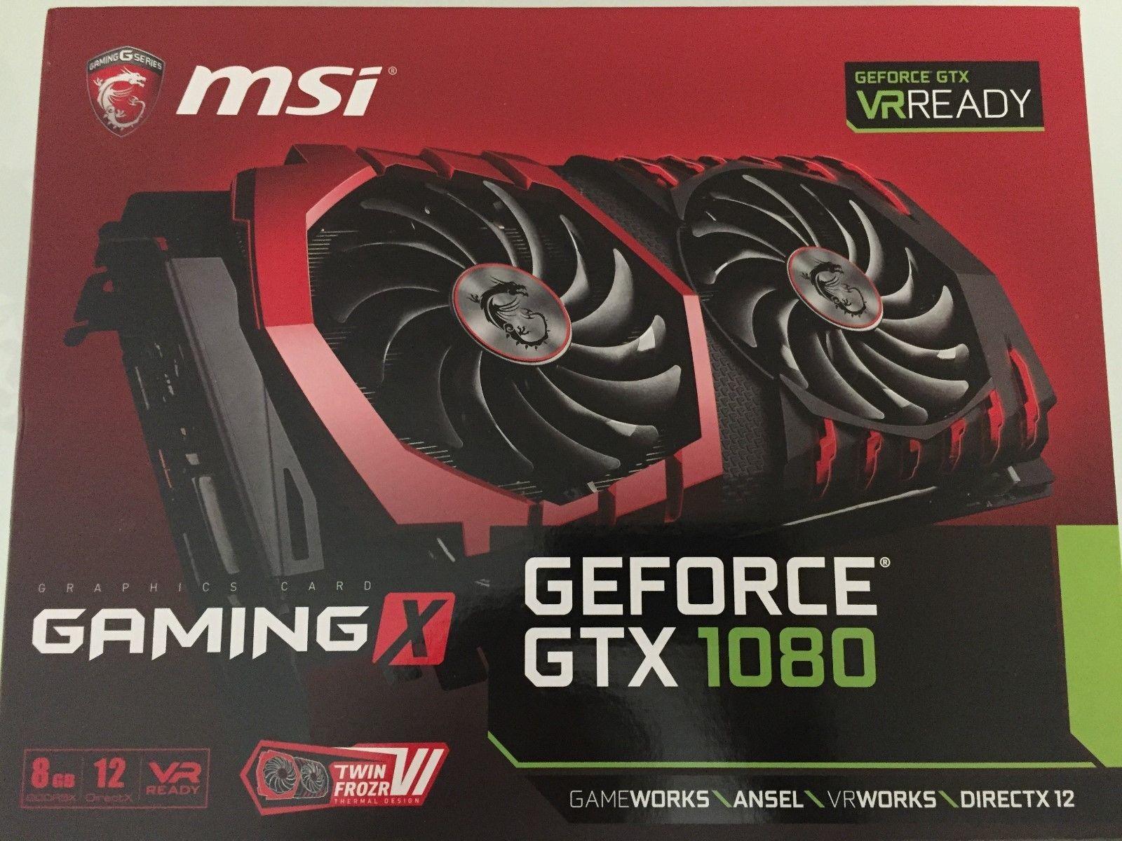 MSI GeForce GTX 1080 GAMING X 8GB DirectX 12 VR Ready Graphics Card