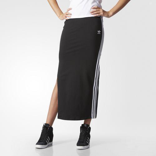 3-Stripes Long Skirt - Black
