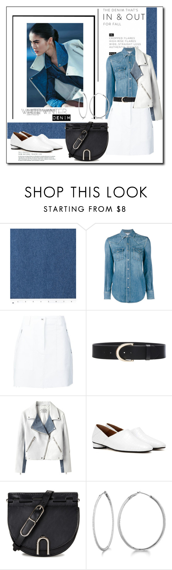 """""""White Winter Denim"""" by littlefeather1 ❤ liked on Polyvore featuring Yves Saint Laurent, rag & bone, Frame Denim, Acne Studios, The Row, 3.1 Phillip Lim, Allurez, topsets and polyvoreeditorial"""