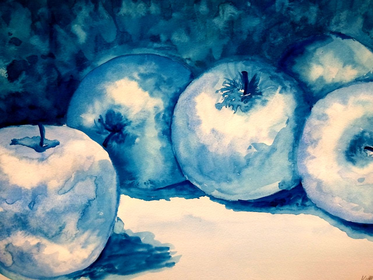 blue apples! | My Artwork | Pinterest | Apples