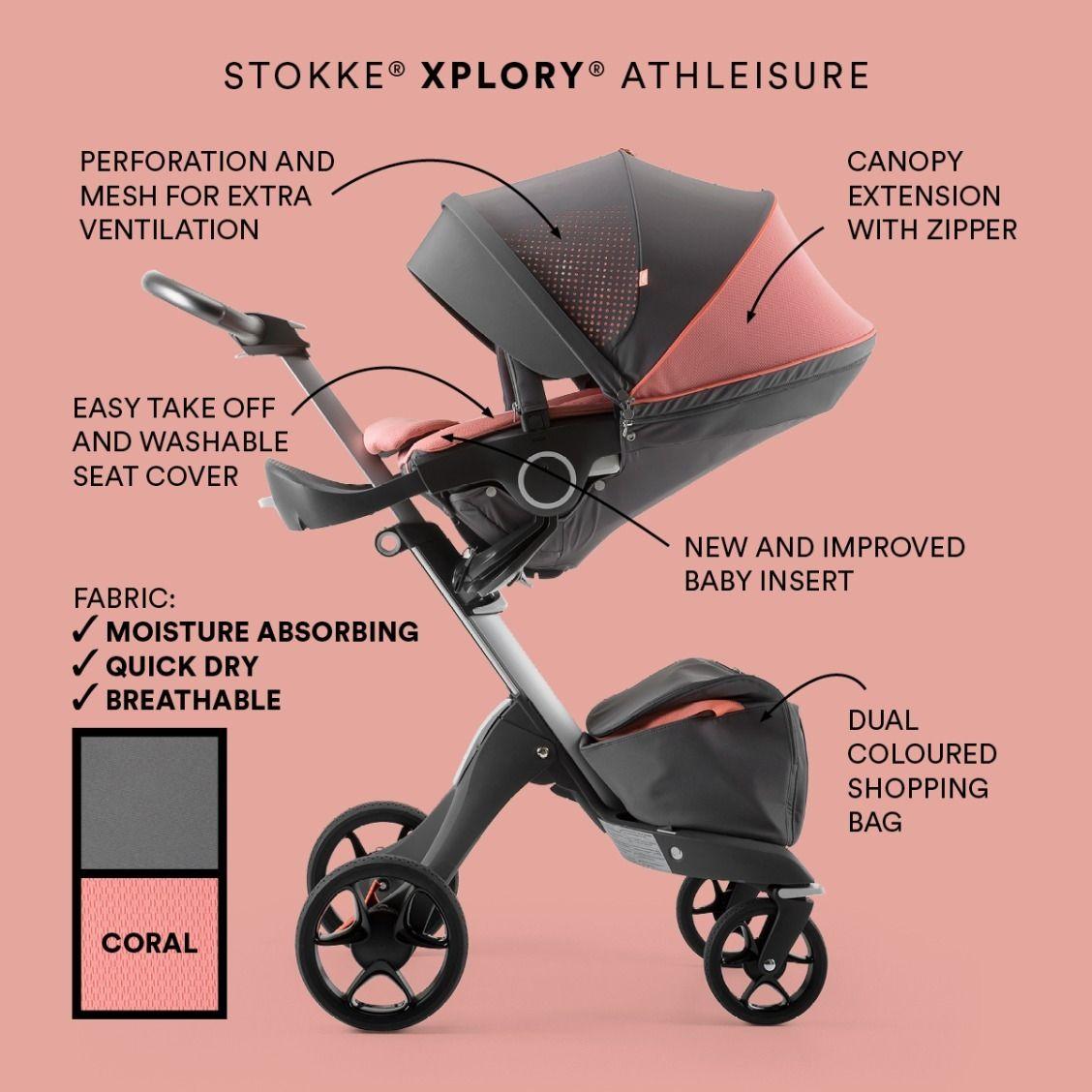 Stokke Xplory Athleisure Incorporates An Upgraded Newborn Insert