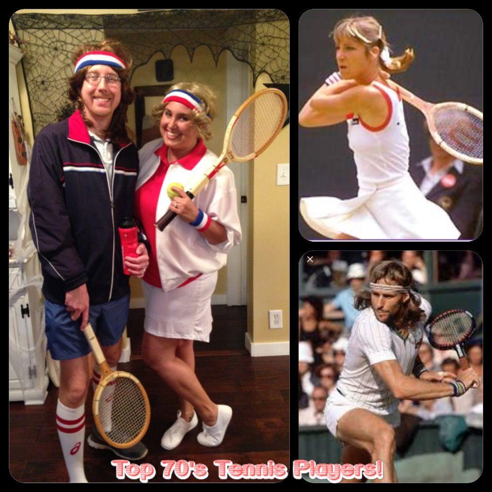 Mens 80s Tennis Player Costume John McEnroe Sport Fancy Dress Party Wimbledon