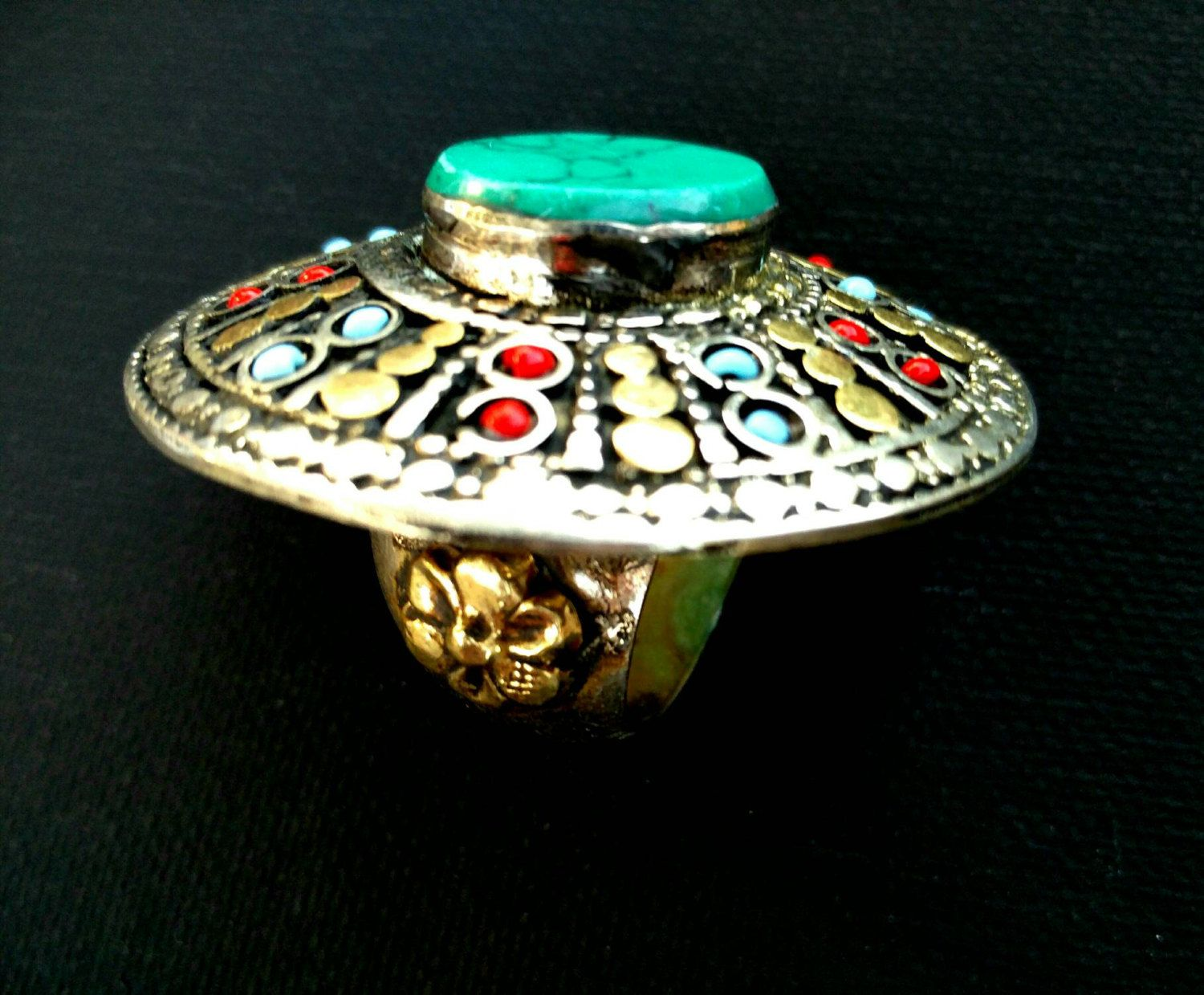 Vintage Handmade Ring Women Afghan Kuchi Tribal Jewelry Antique Jewelry Banjara Boho Gypsy Indian Ring Stone Ring Free Shipping Gift for her by RareFindingsUS on Etsy