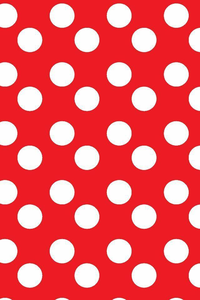 Red And White Polka Dot Background : white, polka, background, White, Polka, Wallpaper,, Wallpaper, Iphone