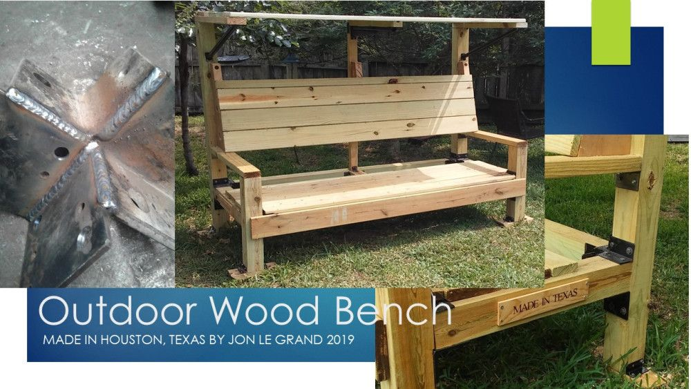 Fantastic An Outdoor Wooden Bench I Made From Pressure Treated Wood Spiritservingveterans Wood Chair Design Ideas Spiritservingveteransorg