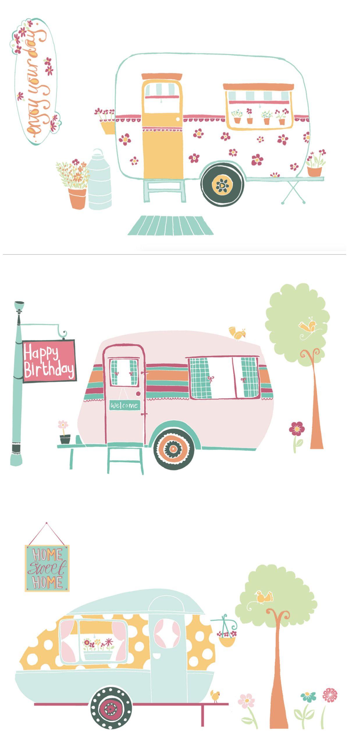 your free retro caravan printables by naomi hocking free