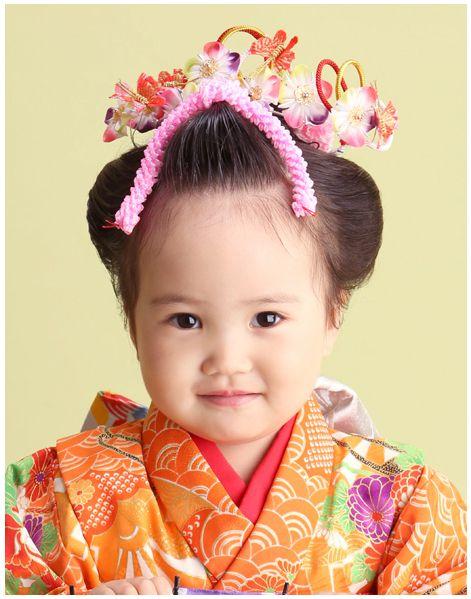 日本髪スタイルの七五三 七五三 3歳 女の子 七五三 3歳 七五三