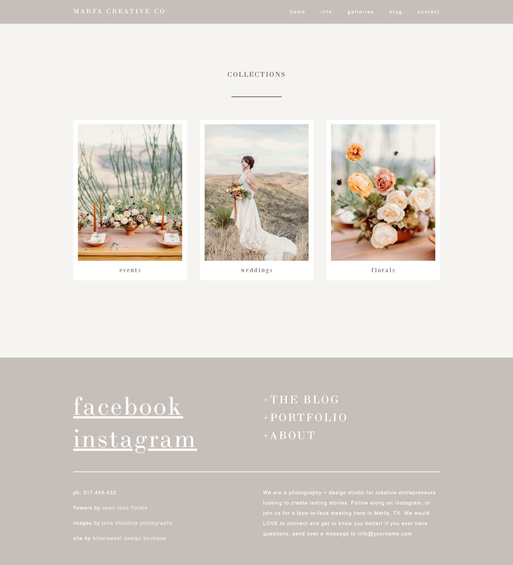 Squarespace Website Template For Photographers Creatives