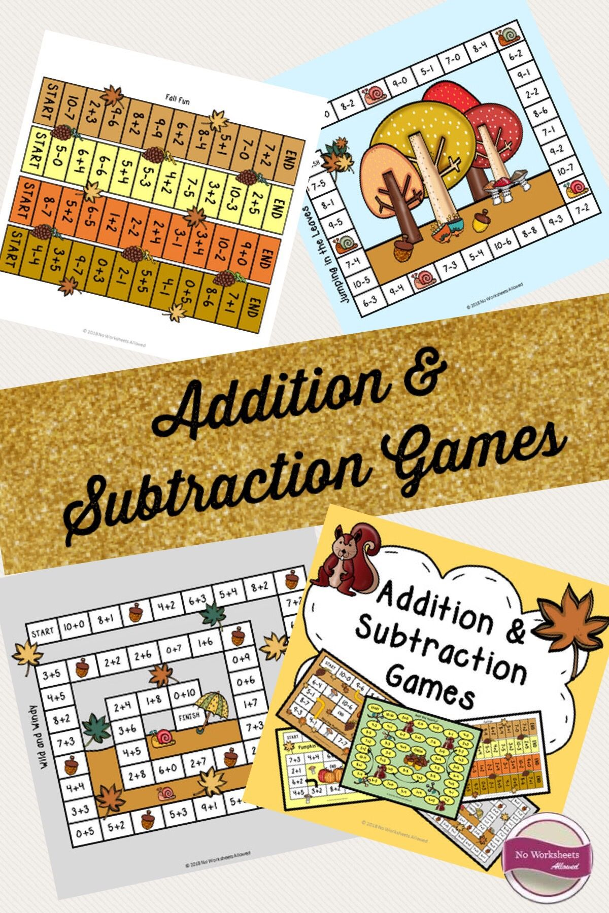 Fall Addition Amp Subtraction Within 10 Games