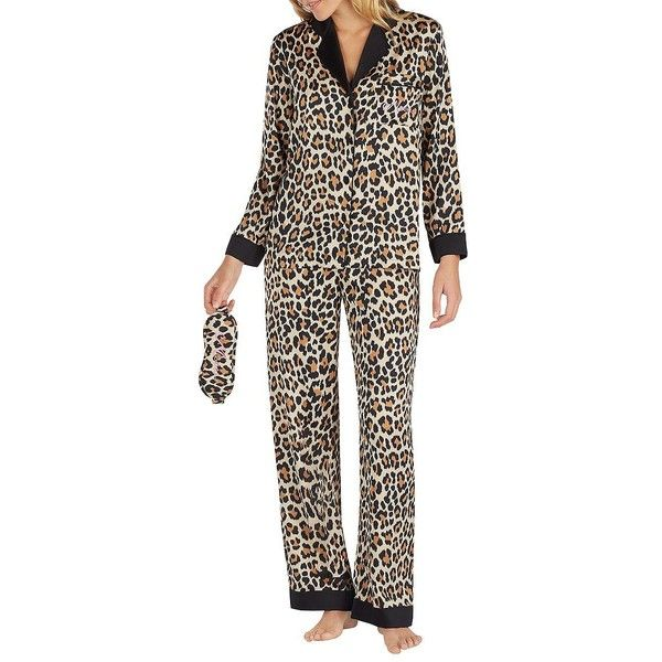 86fba428a97 Kate Spade New York Women s Leopard Pajama Set ( 88) ❤ liked on Polyvore  featuring intimates