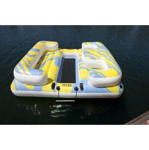 Relaxation Station Pool Lounge: Intex Relaxation Station Private Island Holds 704 ($129.99