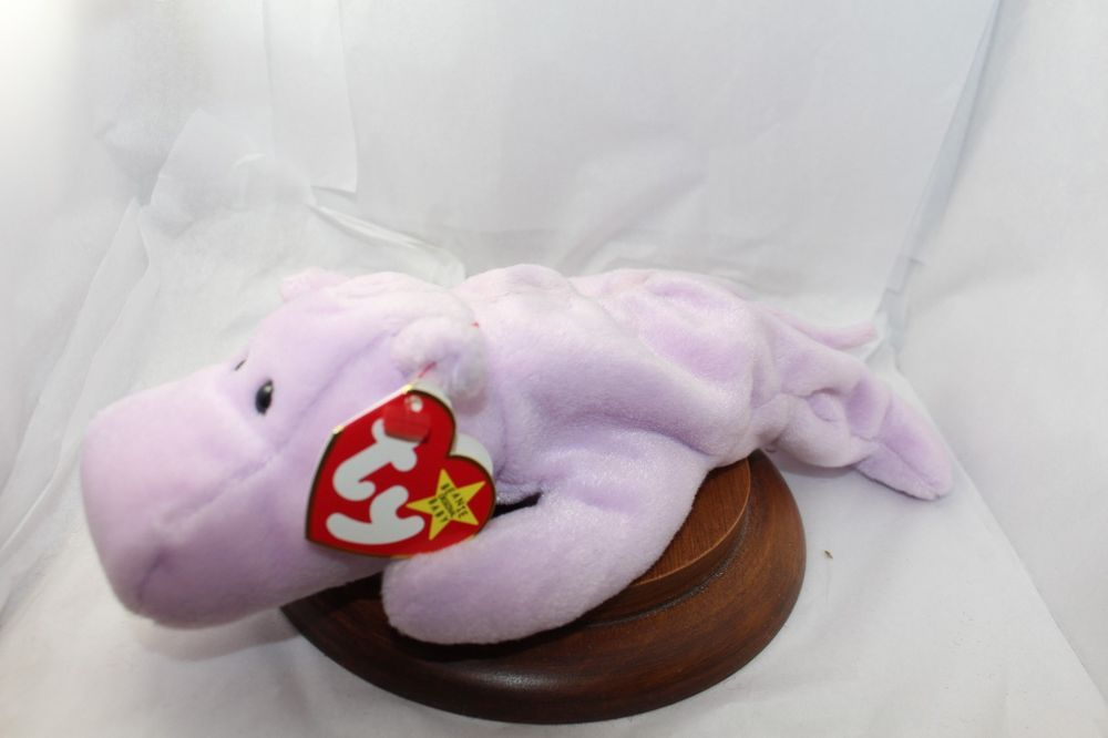 d3ec74fb6e6 Ty Beanie Babies  Happy Hippo  Retired 1994 NWT----Tush Tag says 1993  Ty   Beanie