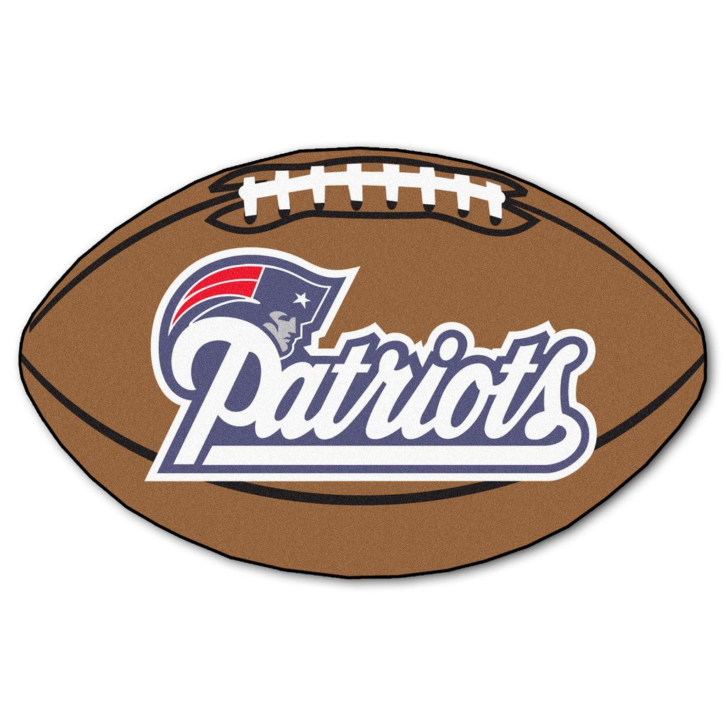 The New England Patriots Football Rug Measures 22 X 35 New England Patriots Football Patriots Football New England Patriots