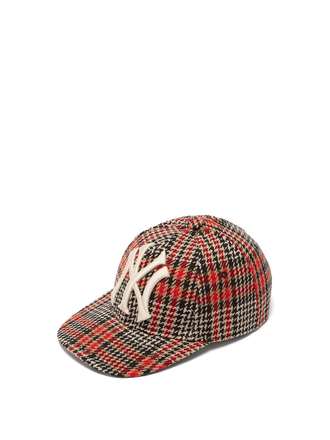 dccfccc65c694d NY Yankees wool-blend tweed baseball cap | Gucci | MATCHESFASHION.COM UK