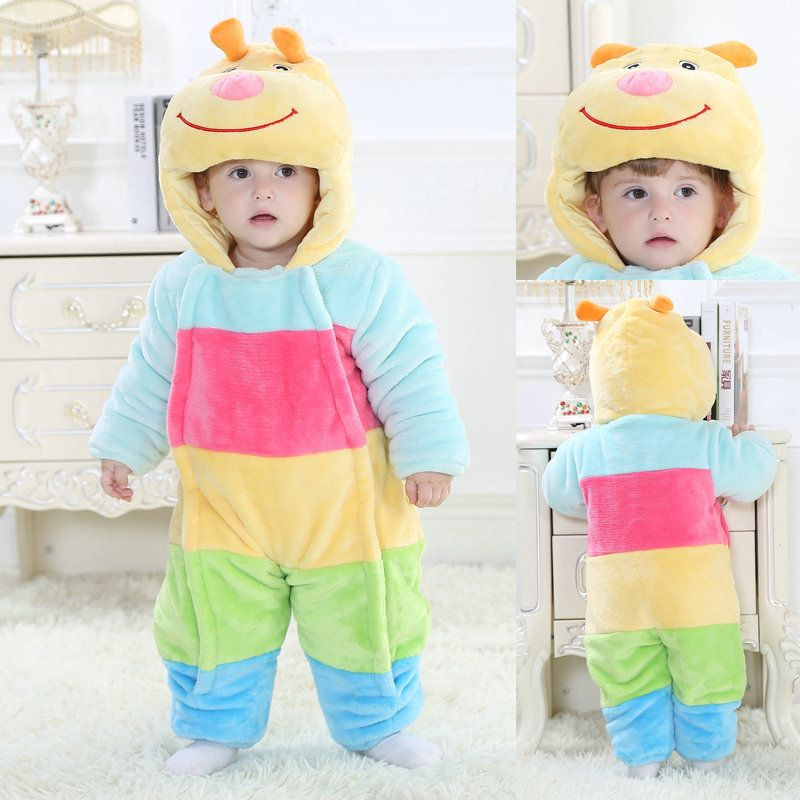dfed95f3aba0 Colorful Caterpillar Carpenterworm Toddler Onesie Kigurumi Baby ...