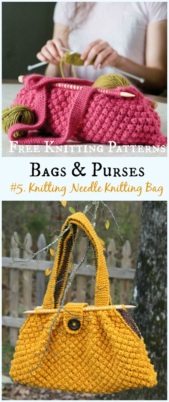 Bags & Purses Free Knitting Patterns
