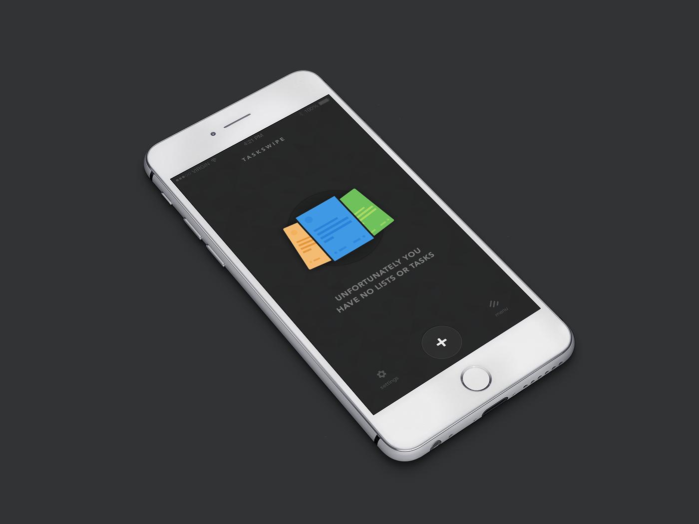 Taskswipe Mobile UI
