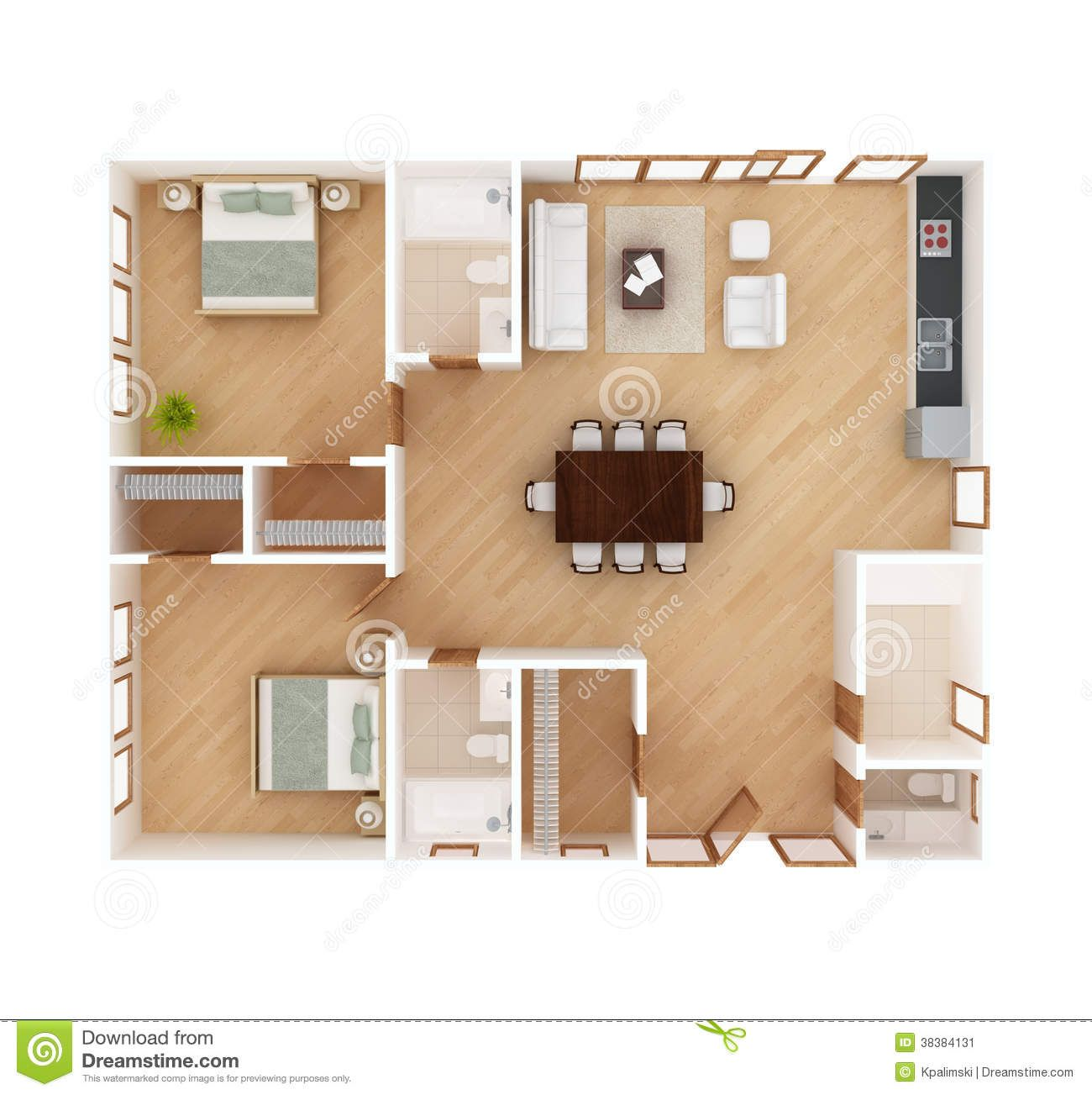 House Plan Top View Isolated White And Floor Kerala Home