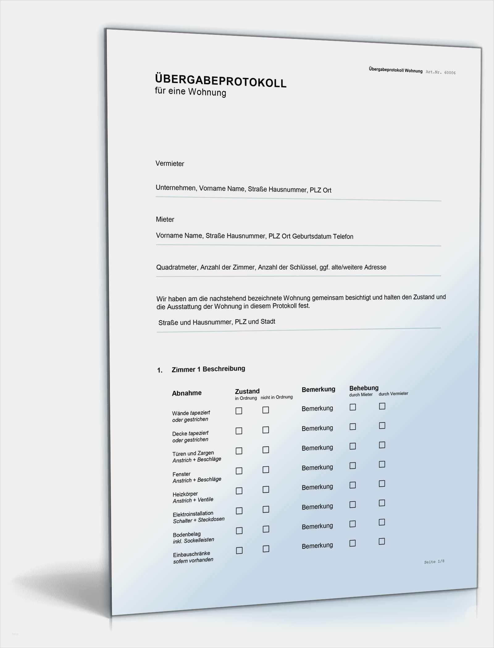 Hausubergabeprotokoll Mustervorlage Als Pdf Zum Download 13