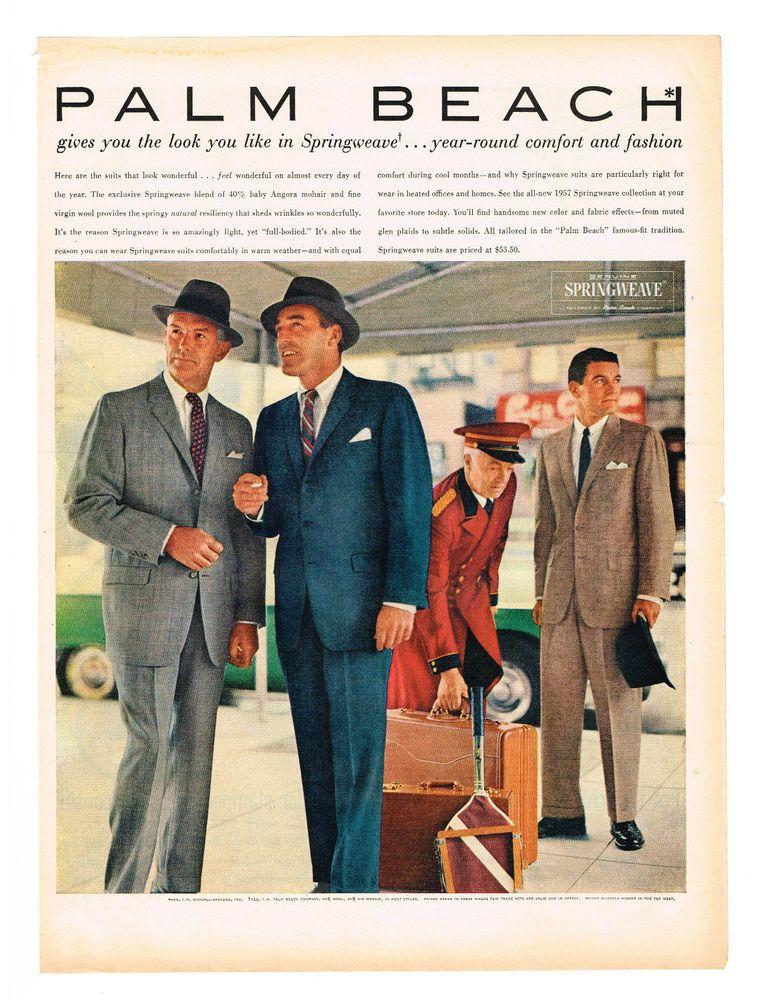 VINTAGE MENS FASHION Ad Retro Mid-Century Tie Ad Vintage Palm Beach Ties Ad,