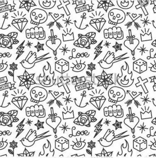 Small Random Tattoos Tattoo Pattern Tattoo Filler Tattoo Background