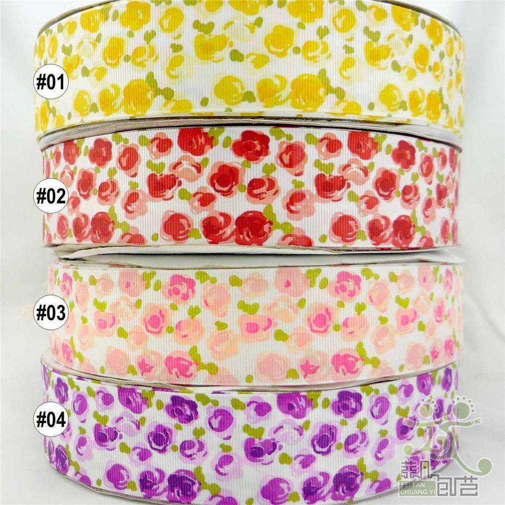 "5Yards 1/"" Grosgrain Cartoon Printed Pattern Ribbon Crafts Wedding decoration bow"