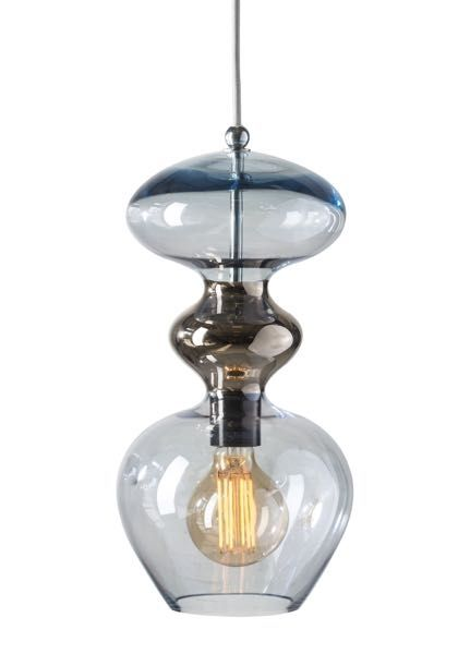 Futura Pendant Lamp Topaz Blue Platinum 37cmh Lamp Glass Ceiling Lights Creative Lamps