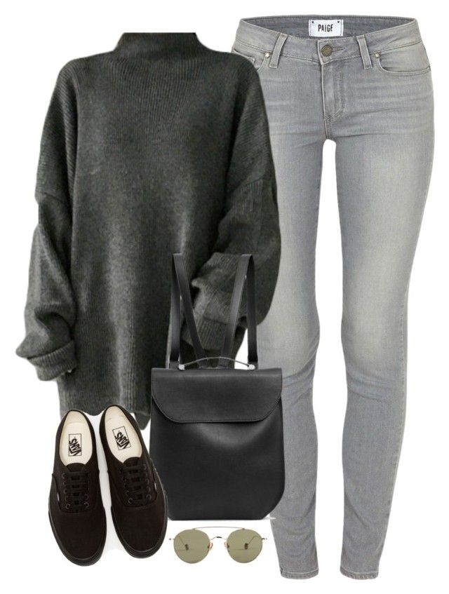 """Untitled #2810"" by kaylinminnec ❤ liked on Polyvore featuring Paige Denim, GRETCHEN, Vans and Ahlem"