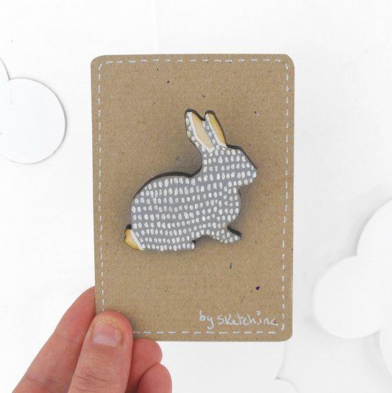 rabbit brooch / sketchinc