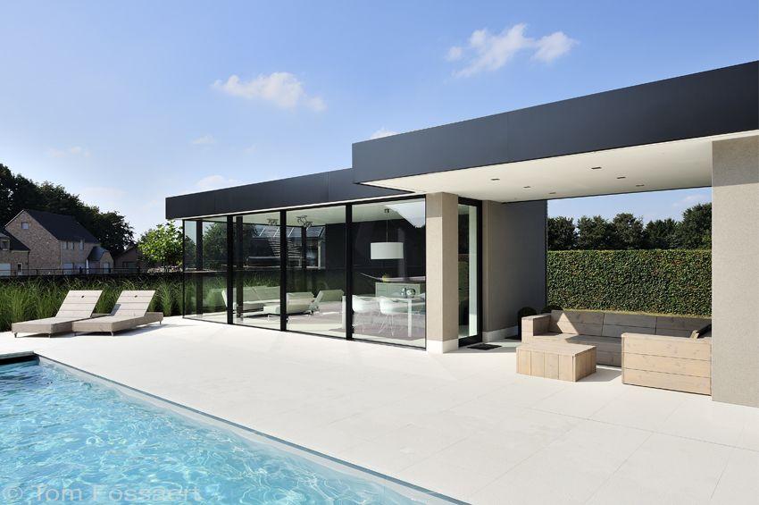 Glasshouse Aan Het Zwembad Exclusieve Veranda Luxe Veranda Serre Ontwerp Gevel Woning Zwembad Huizen