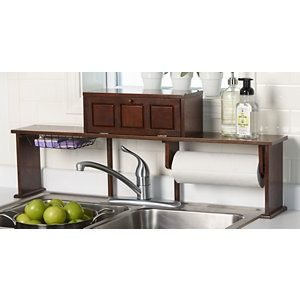 Image Of alcove Over the Sink Organizer Shelf Espresso