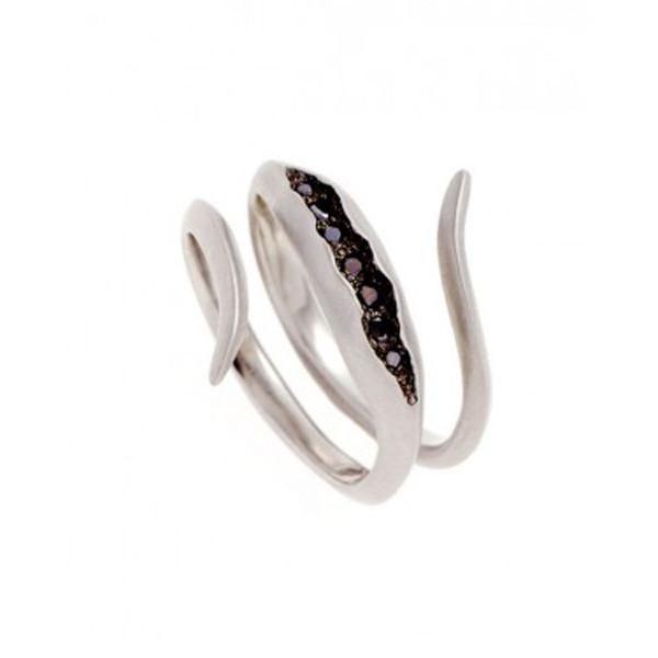 Triffid 18ct White Gold Coil Diamond Engagement Ring. #WhiteGoldDiamondEngagementRing