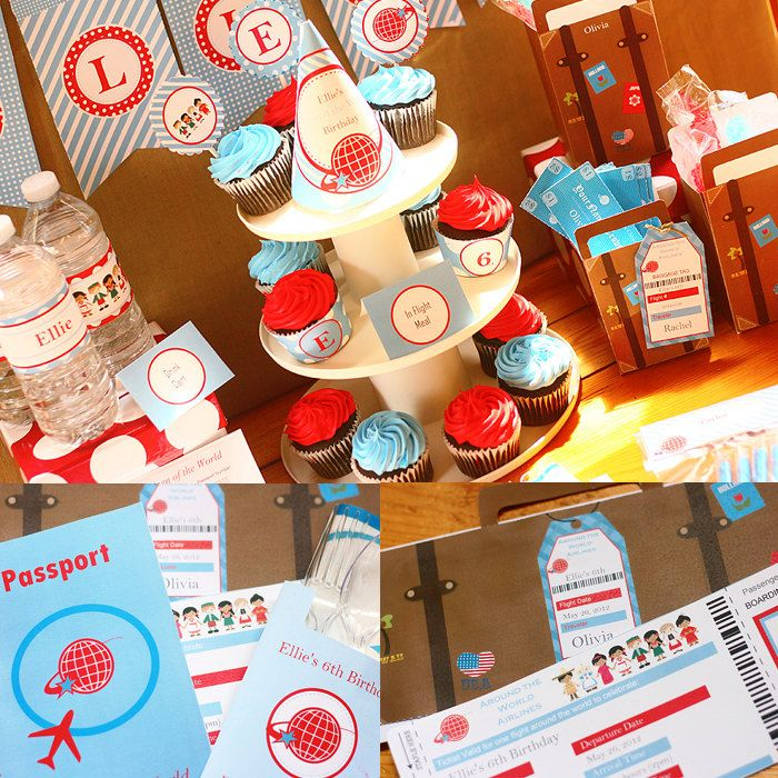 Instant Download Around the World Birthday Printable Party