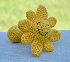 Sunshine Baby Rattle / CROCHET pattern for sale