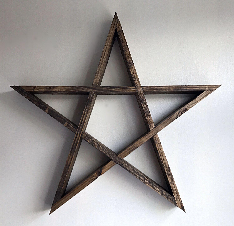 Pentagram Shelf Star Decor