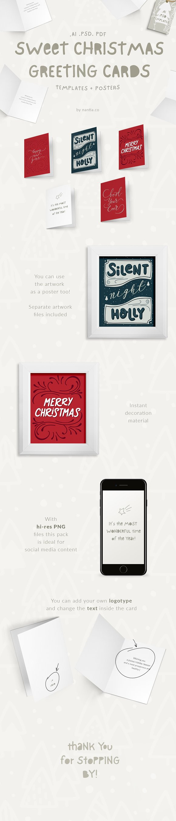 Sweet Christmas Cards & Posters by nantia on ...
