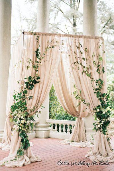 Fabric wedding altar save the date pinterest trelias de fabric wedding altar junglespirit Gallery