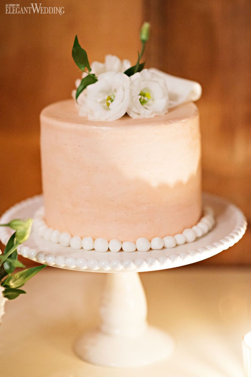 Mini cake for a wedding sweet table vintage vineyard wedding at